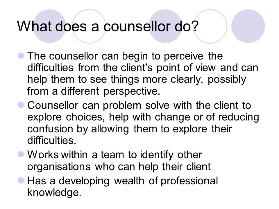 Counsellor 1