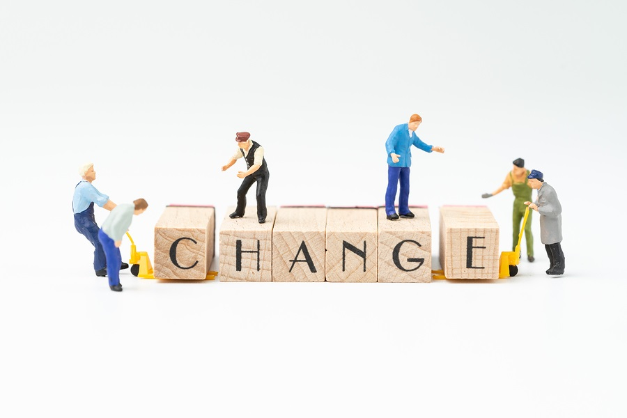 Business Change, Transform Or Self Development For Success Conce