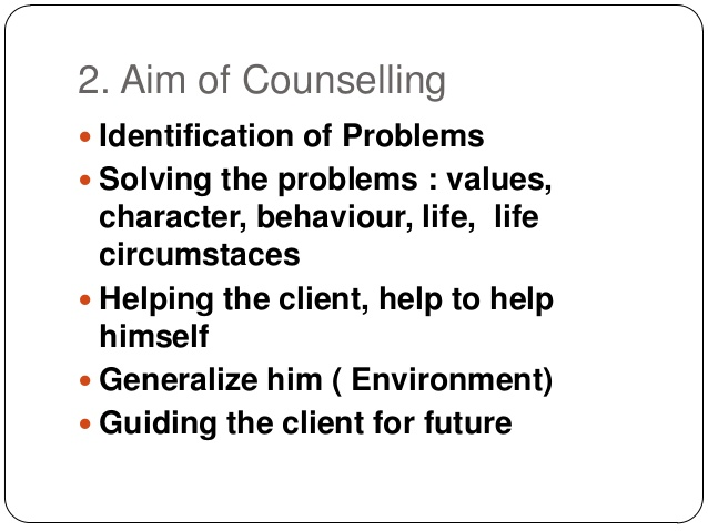 Counselling Aim 2